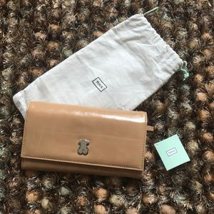 TOUS Leather Tan Wallet